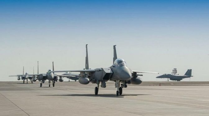 """Прибытие группы Саудийских ВВС, принимающих участие в маневрах """"Флаг пустыни 2021"""" в ОАЭ"""