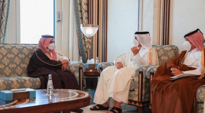 Министр иностранных дел КСА прибыл в Доху