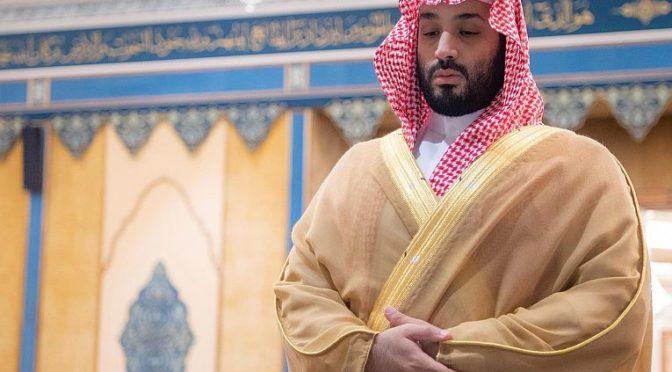Его Высочество наследный принц совершил похоронную молитву по метери Его Королевского Высочества принца Мухаммада бин Абдуррахмана бин Абдулазиза