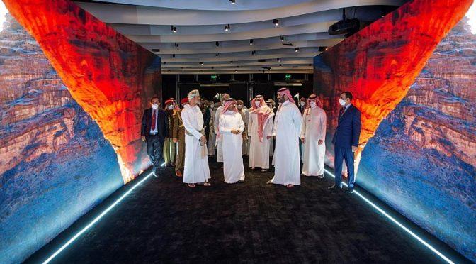 Его Высочество наследный принц посетил совместно с султаном Омана информационный центр Исра в NEOM