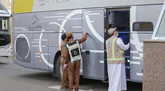 Проверка 1914 автобусов, перевозящих паломников в Запретную Мечеть и места паломничества