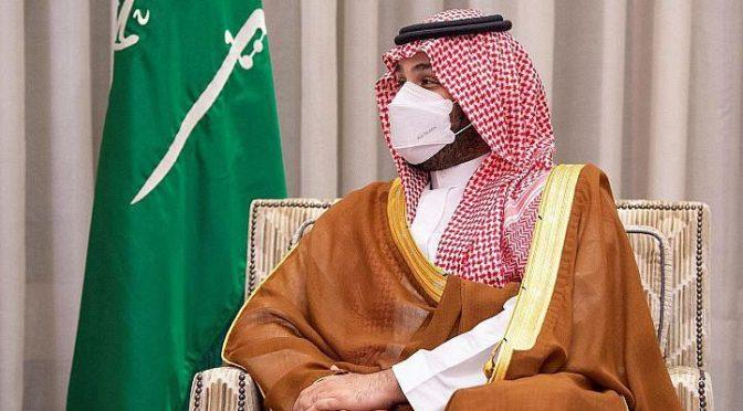 Его Высочество наследный принц КСА принял телефонный звонок от президента Франции